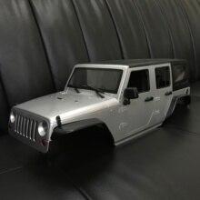 Несобранная 12,3 дюймовая 313 мм Колесная база jeep Wrangle корпус автомобиля для 1/10 RC Crawler Axial SCX10 и SCX10 II 90046 90047