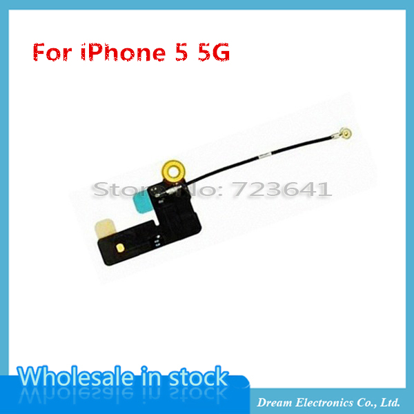 MXHOBIC 50pcs/lot NEW Mobile Phone Flex Cables For iPhone 5 5G WiFi Antenna Signal Flex Cable Ribbon Replacement Parts