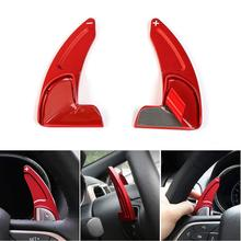 Chuang Qian 2Pcs Steering Wheel Shift Paddle Shifter Trim Cover For Jeep Grand Cherokee 2014-2019 Newest (Red)