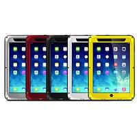 Amor mei choque híbrido impermeable potente case cubierta para ipad mini 1 2 3/ipad 2/3/4/5 aire vidrio temperd protector de pantalla