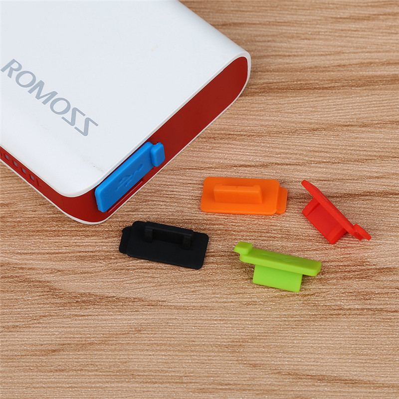 Siancs 5 Pieces Standard USB Dust Plug USB Charger Port Cover USB Jack Interface Dustproof Prevention for PC Notebook Powerbank