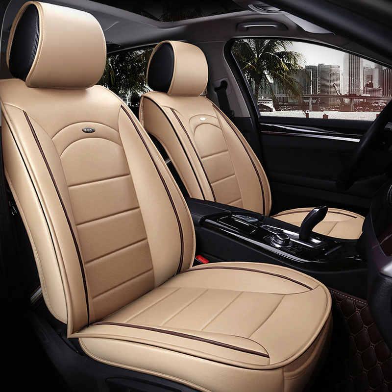 Pu Kussen universele autostoel cover auto seat protector voor hyundai grote starex veloster veracruz verna solaris elantra