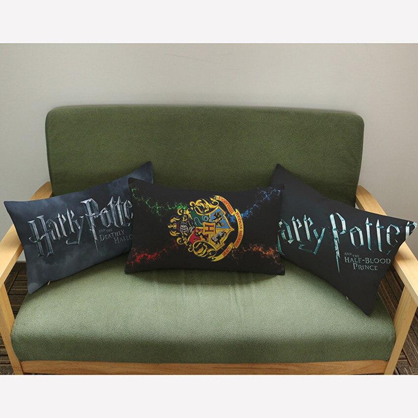 Décoratif coussins cas harry potter Film coton lin housse de coussin pour canapé décor à la maison funda cojines 45*45 cm