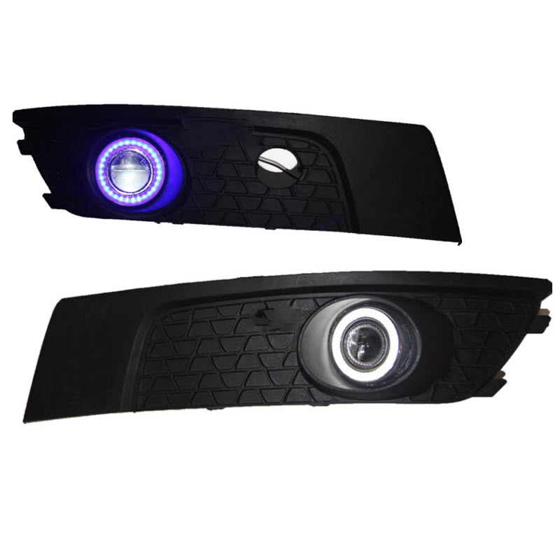 For Brilliance FSV Old 3-in-1 White Angel Eyes DRL Yellow Signal Light H11 Halogen / Xenon E13 Fog Lights Projector Lens