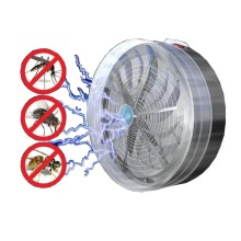 2018 New Solar Powered Buzz UV Lamp Light Fly Insect Bug Mosquito Kill Zapper Killer Drop Shipping