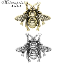 Meirenpeizi Little Bee Brooches Women Pin Brooch Female Simple Curved Brooch Chest Female Cardigan Pin 2019 Fashion Accessories