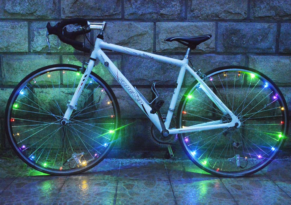 20LED Bicycle Light chargeable Bicycle Wheel Spoke Lights Water ...