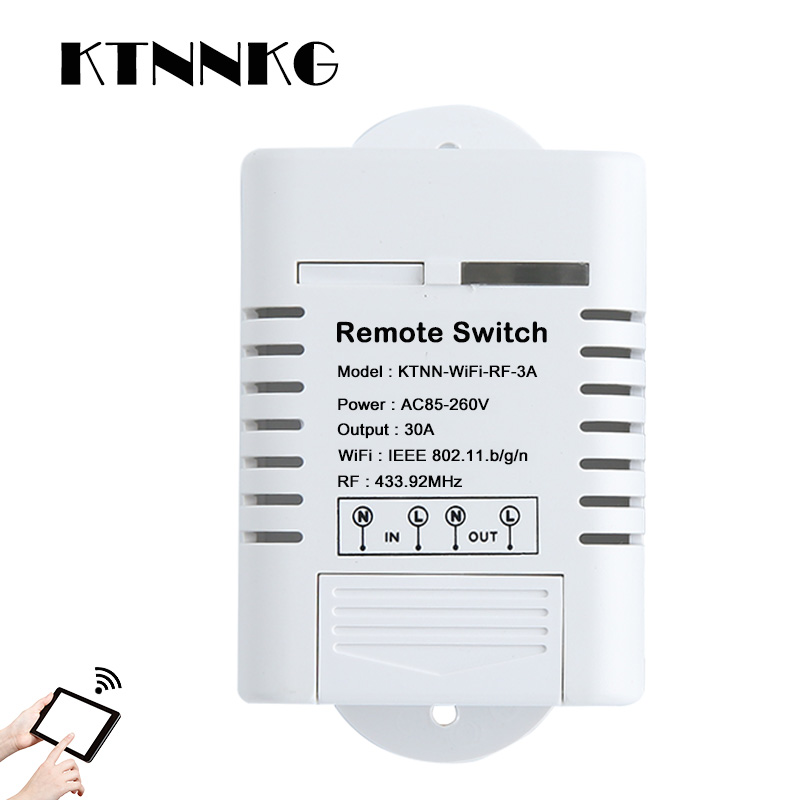 30a High Wifi Relay Switch Receiver 110v 220v Smart Home Gadgets Wireless Light Control 433mhz In Automation Modules From Consumer