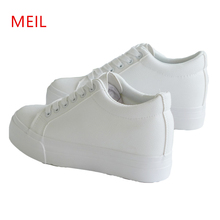 Wedge sneakers Women Casual Shoes Height Increased Woman Shoes Sneakers 2019 Fashion Platform Sneakers Female Wedges White Black
