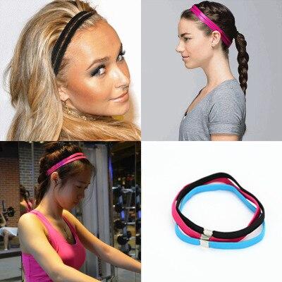 3 PCS/set Movement Narrow Elastic Hair Band Black Blue Pink Men Women Children Elastic Rope Concise Hair Hoop Accessories