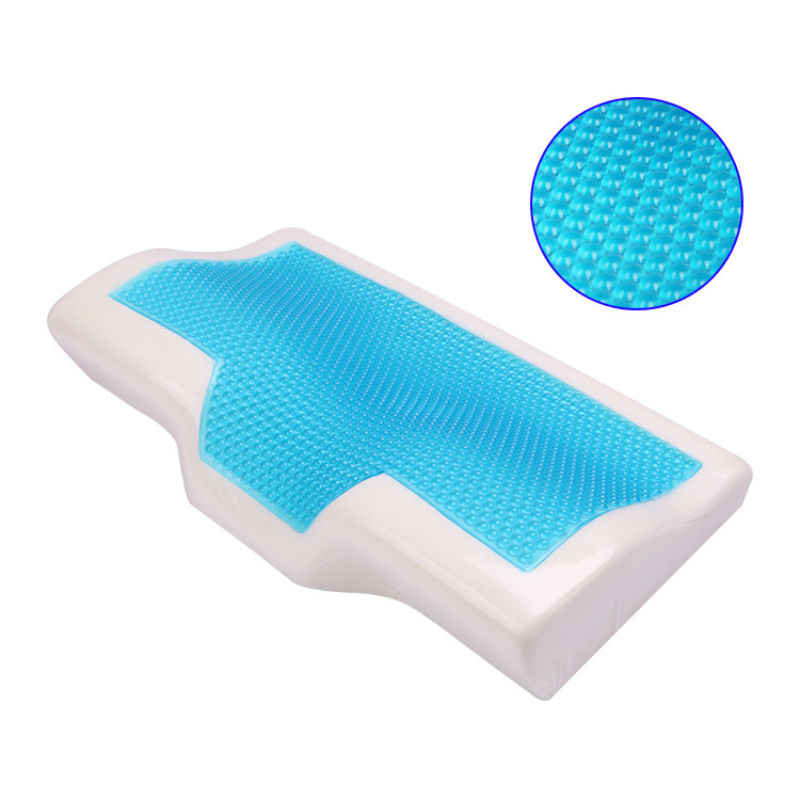 Peter Khanun Butterfly Shaped Memory Foam Pillow Cooling Gel Bed Pillow Cervical Protect Orthopedic Pillows for Sleeping 028