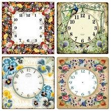 5d diy алмазная живопись настенные часы цветы пейзаж полный квадрат/Круглый 3D Мозаика вышивка украшение дома ремесла подарки