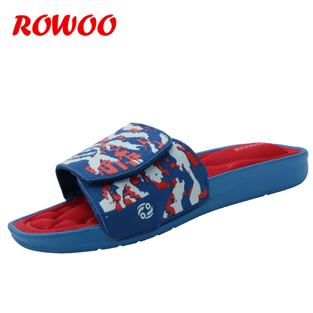 8e0224796123 Adjustable Men Slippers Massage Slip-on Cozy Memory Foam Flip Flops and  Pool Bedroom Indoor Camouflage House Slippers Shoes Male