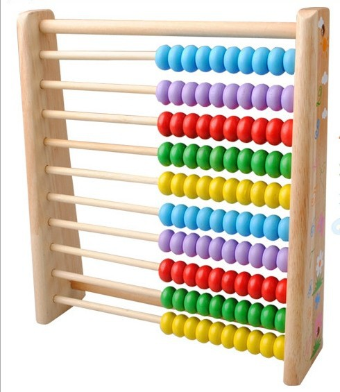 2015 New Large Wooden Toys For Kids Wood Beads Abacus