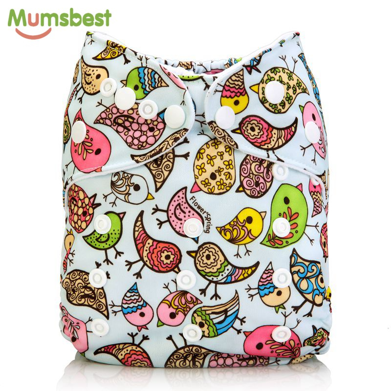купить [Mumsbest] New Baby Cloth Diapers Cover Black & White One Size Adjustable Diaper Washable nappy Reusable Cloth Baby Nappies по цене 272.67 рублей