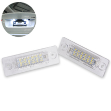 KATUR 2pcs Standard Led License Plate Lights For Golf Caddy 3 Passat Cimousint Combi / Variant Touran T5 Transporter