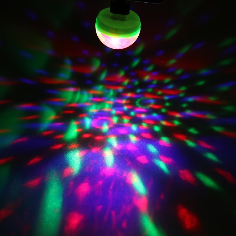 Home Disco Lights: Portable Mini USB Led Party Lights Crystal Magic Ball Home