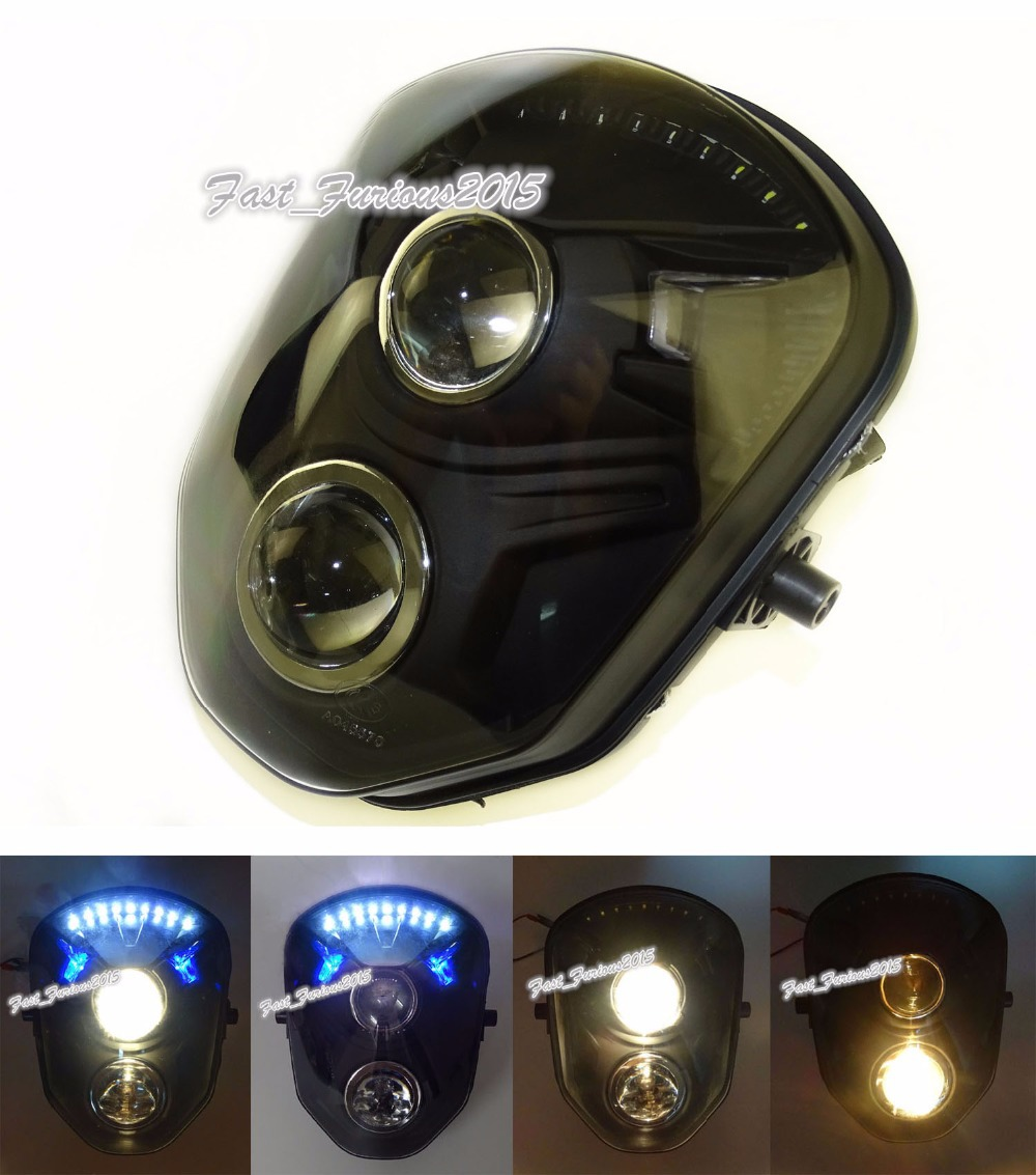 Motorcycle Double / Dual Projector Front Headlight