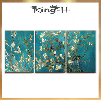 Hand-painted oil painting f van gogh replica of combination 3 p thick knife acrylic painting or abstract classic adornment hotel