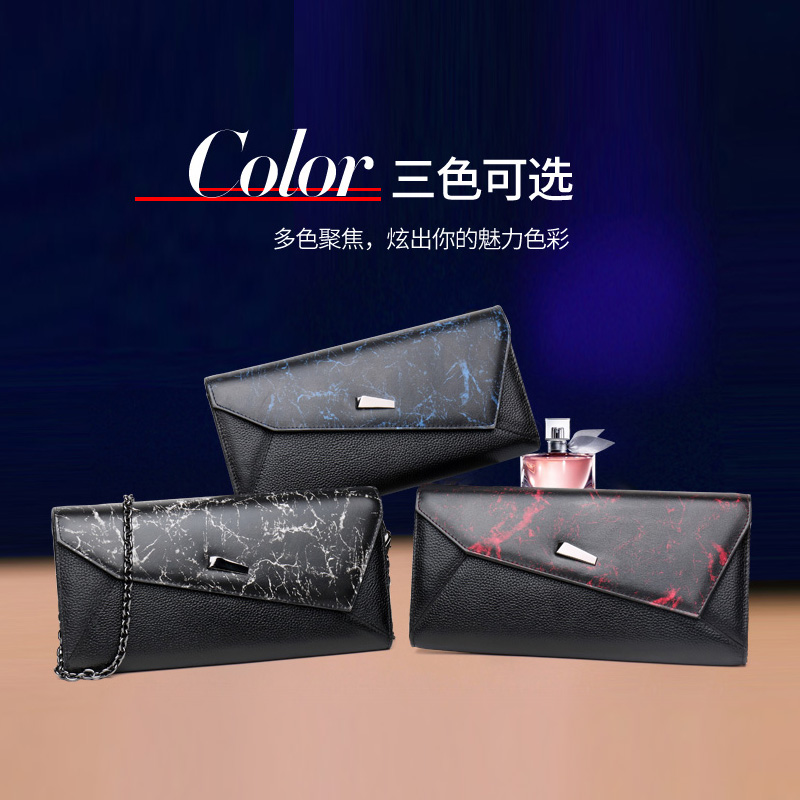 Qidell K521 New Styles Genuine Leather Hangbag For Banquet/ Day Clutches For Women ...