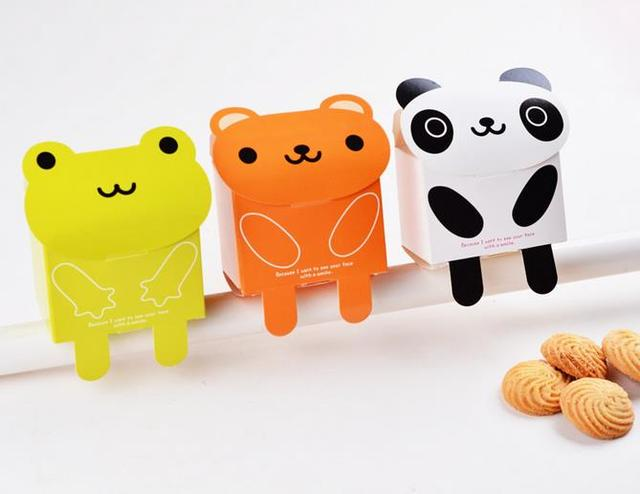 50pcslot Cute Frog Bear Panda Candy Box Baby Shower Favors And