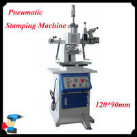 Desktop Pneumatic Bronzing Machine 120 90mm Plane Hot Foil Stamping Machine Card Leather Stamping Shoes Logo