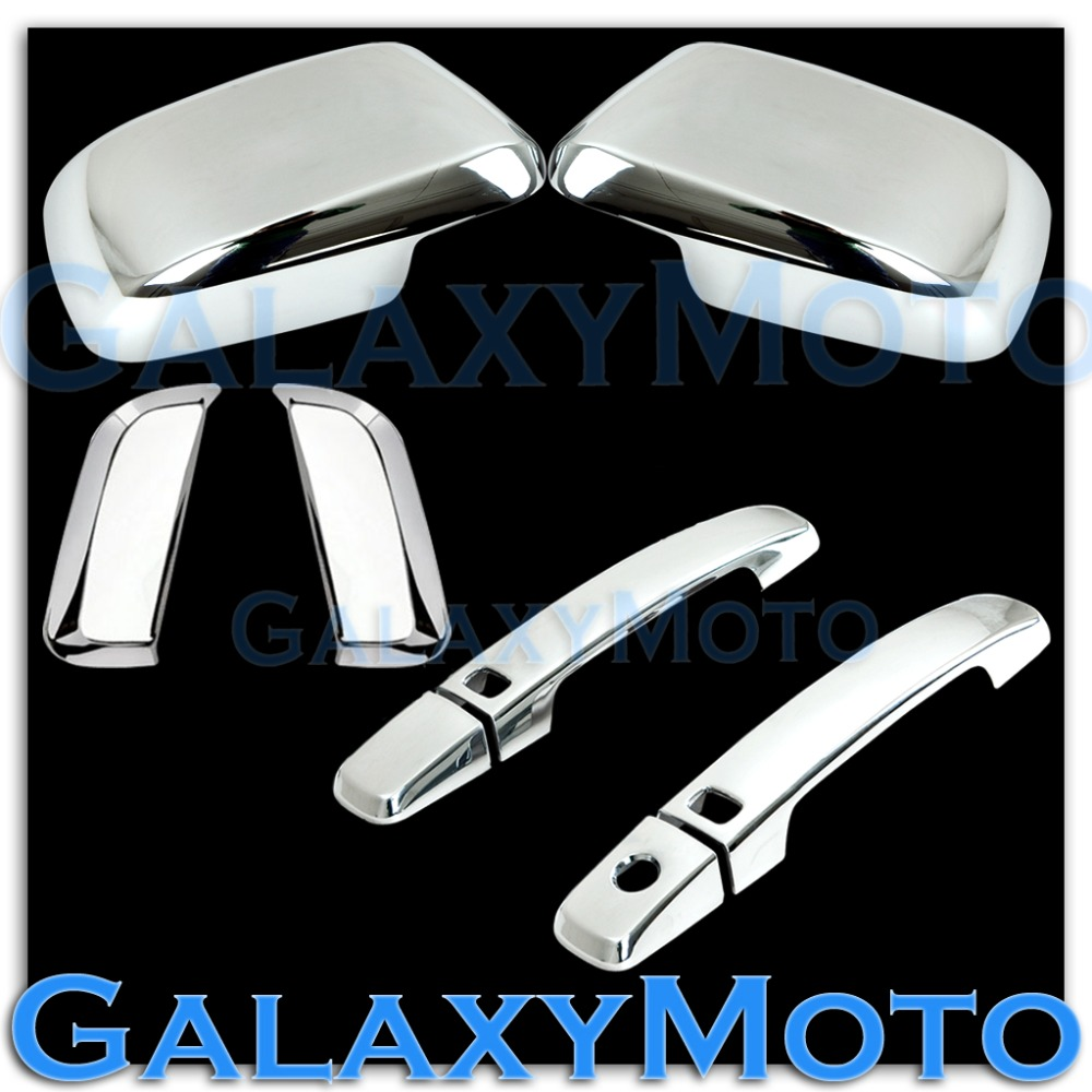 XYIVYG Chrome Mirror+4 Door Handle With Smart Hole Cover 2005-12 for Nissan PATHFINDER цена