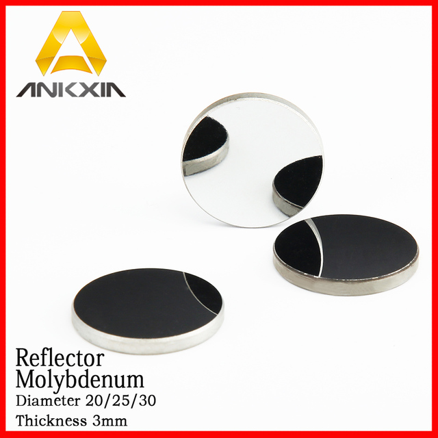 Molybdenum Mirror  Mo Reflector Dia 20/25/30mm For Co2 Laser Cutting Engraver Thickness 3mm