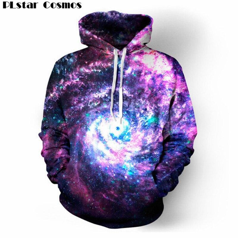 PLstar Cosmos Hipster worm hole galaxy unisex print 3d hoodies punk Women Men Sweatshirts Hoodies Outfits Casual Sweats