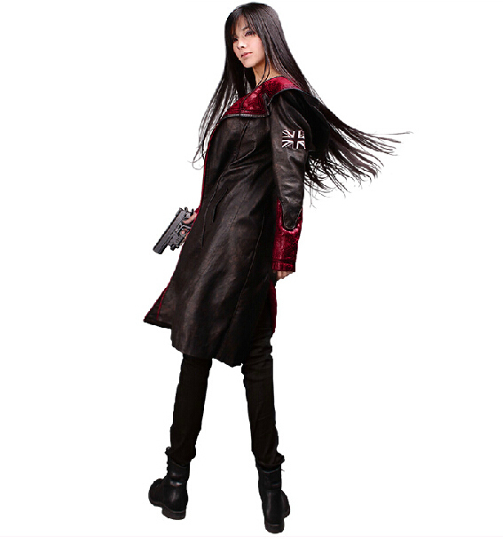DevilMayCry5 Jacket Games Devil May Cry PU Leather Hooded Coat Dante Cosplay Costume