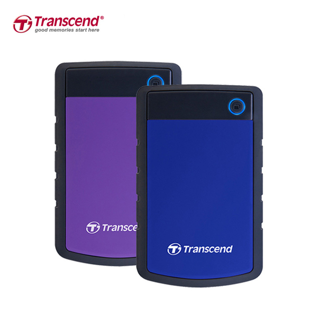 "Transcend StoreJet 25H3 1TB External Hard Drive 2.5"" High Speed USB 3.0 HDD Hard Disk Desktop Laptop Storage Devices HD Disk 1TB"