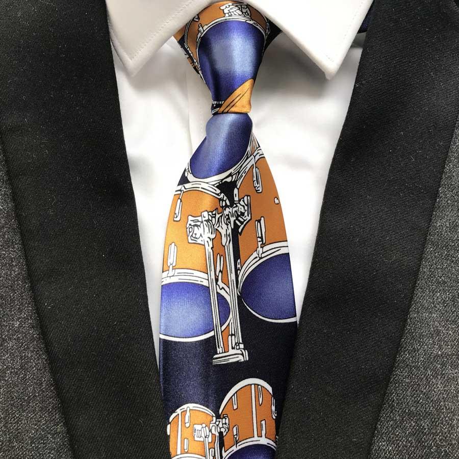 fccdd76b7 1 piezas moda diseño único poliéster tambor lazos 9 cm clásico artista  corbata Gentlemen tejidos Gravatas para hombres para pintor