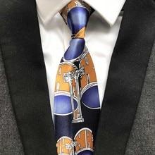 1pcs Fashion Unique Design Polyester Drum Ties 9cm Classic Artisit Necktie Gentlemen Woven Gravatas for Men For Painter