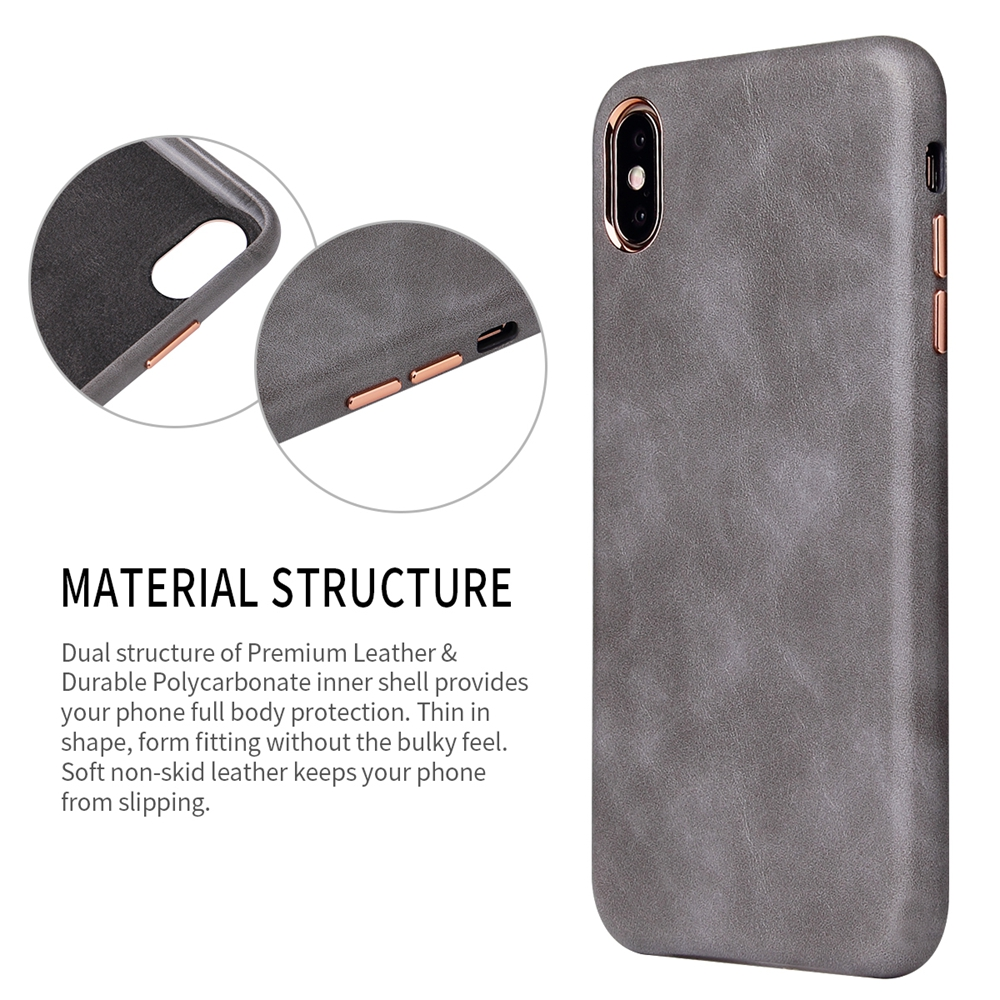 Image 2 - Eqvvol Luxury Leather Case For iPhone 8 7 Plus 6 6s Solid Color Cover For iPhone X XS MAX XR Soft Edge Cases Hard PC Cover Coque-in Half-wrapped Cases from Cellphones & Telecommunications