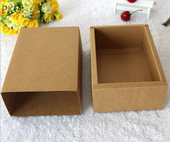 10pcs Kraft Paper Packaging Cardboard Box Brown Small Packaging Gift Box Large Paper Drawer Boxes Gift Jewelry Soap Candy Boxes