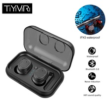 купить Bluetooth 5.0 Earphone Wireless Headphones Running Sports Stereo Earphones Handsfree Headset True Earbuds with Mic for Phones дешево