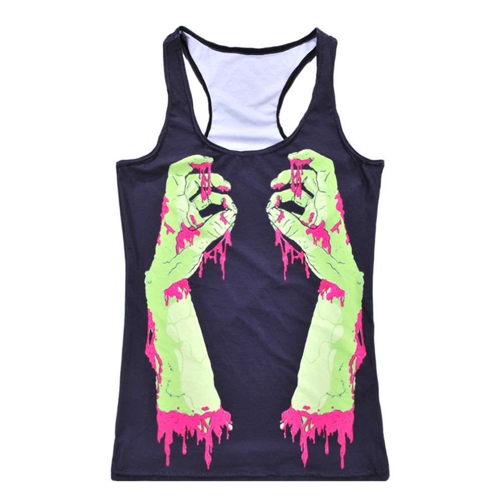 New Women Summer Tank Top Bleeding fingers Fashion Ladies Sleeveless T shirts Vintage Vest Blusas Sexy Tops