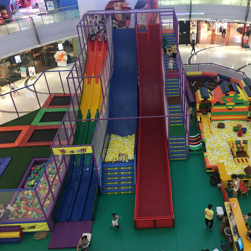 customization indoor playground park crazy slide equipment