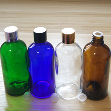 100ml Green/Blue/Amber/Clear Glass bottles with alumina Caps and  inner you order over 112pcs, price 40%off!