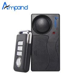 Домашняя беспроводная охранная сигнализация с дистанционным управлением, вибрация, для мотоцикла, велосипеда, двери, окна, охранная сигнал...