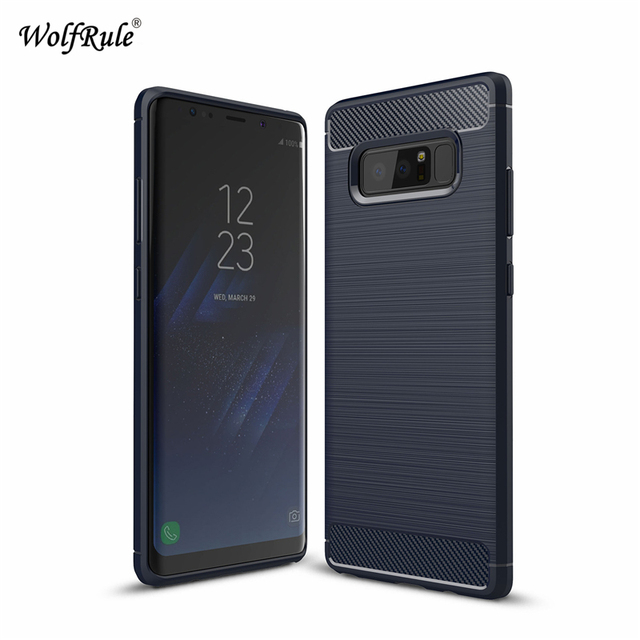 sFor Phone Case Samsung Galaxy Note 8 Cover Note 8 Shockproof Silicon Brushed Style WolfRule Case For Samsung Galaxy Note 8 Case