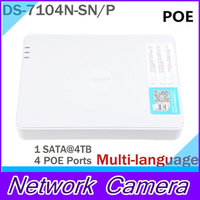 Cctv NVR Hikvision DS 7104N SN P With 4 Ethernet Ports Surveillance Recorder NVR Support POE