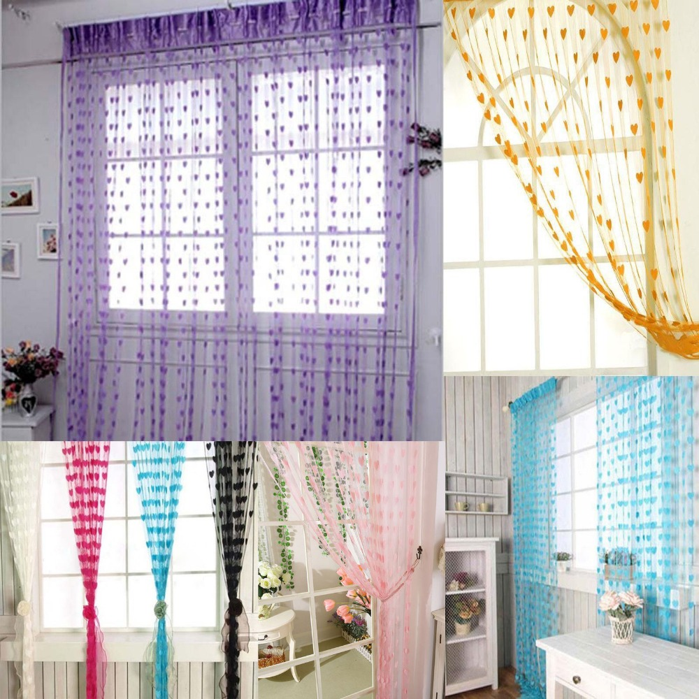 jantung kebaruan jendela dekorasi ruang balkon pintu kelambu garis tirai tali rumbai