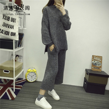 Tracksuits Rushed Cotton Full 2017 Autumn And Winter Women s New Knitted Two Sets Of Loose