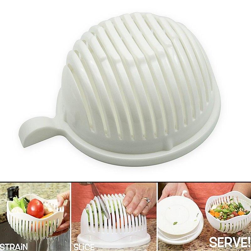 60 Segundo Fabricante De Ensalada Tazón de Ensalada de Frutas Vegetales Herramie