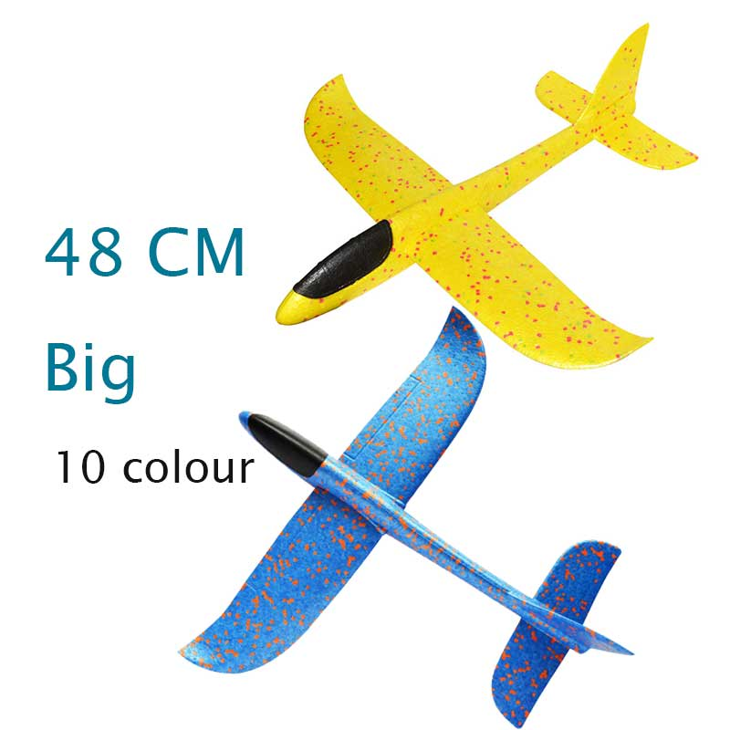48cm Big Hand Launch Throwing Foam Palne EPP Airplane Model Glider Plane Aircraft Model Outdoor DIY Educational Toy For Children 48cm foam plane glider aircraft airplane model led night hand throw flying glider epp toy for children