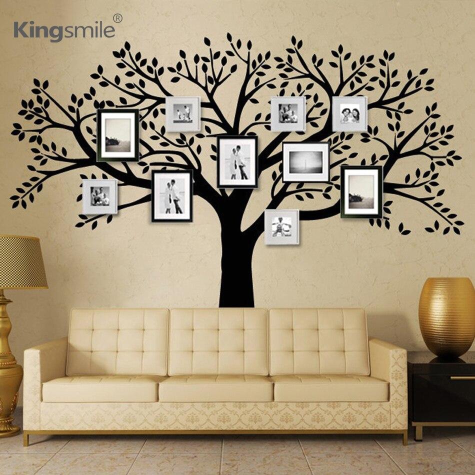 Modern huge family photos tree wall stickers vinyl wall for Family wall art