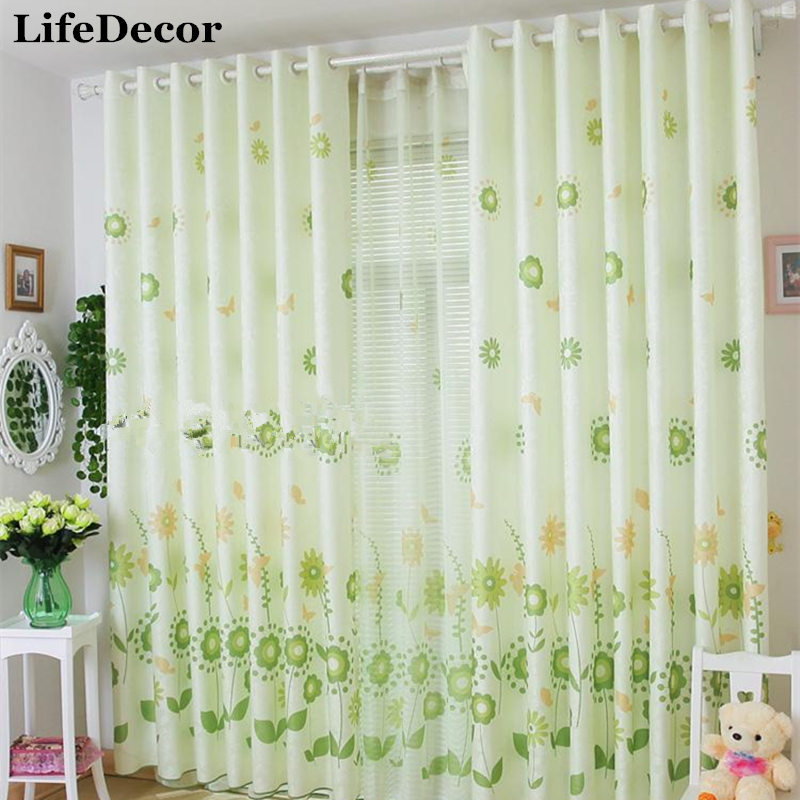 Buy Butterflies Quality Jacquard Curtain Finished Products Window Curtains
