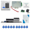 Free shipping RFID access control KD2000 model+electronic bolt lock +power supply+key fobs+door bell+exit button+remote control