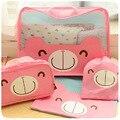 Coreia do Urso de Peluche Bolsas Wash Bag Cosméticos Bolsa de Viagem Kit de viagem Essencial Urso Kits de Higiene Pessoal À Prova D' Água